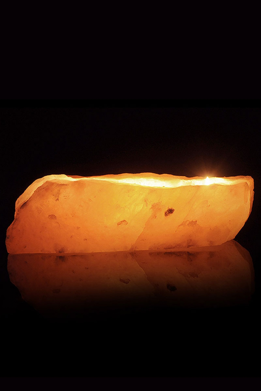 Salt Lamp Tea Lights : Triple Tea-Light Crystal Salt Candle Holder