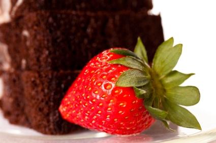 Almost Flourless Choc Cake